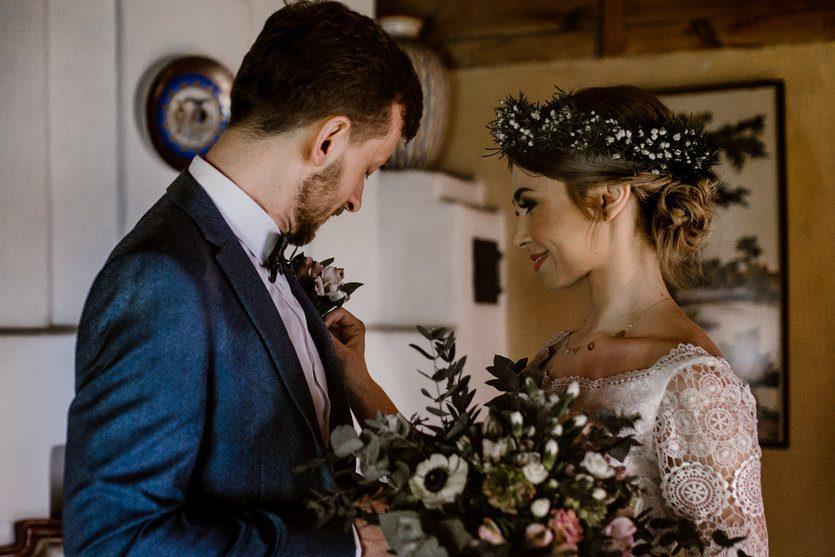 organizacja ślubu i wesela bukiet ślubny boho