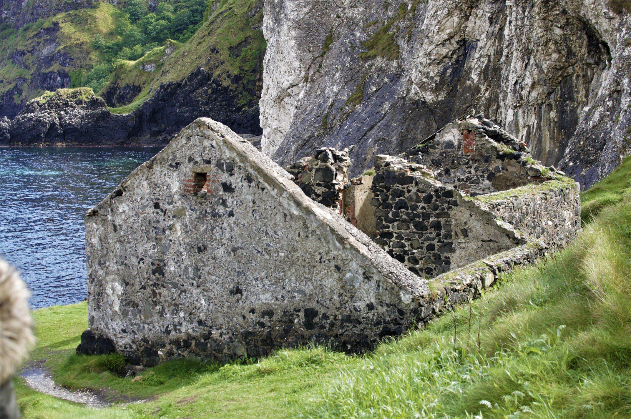 Kinbane Castle Irlandia Pónocna
