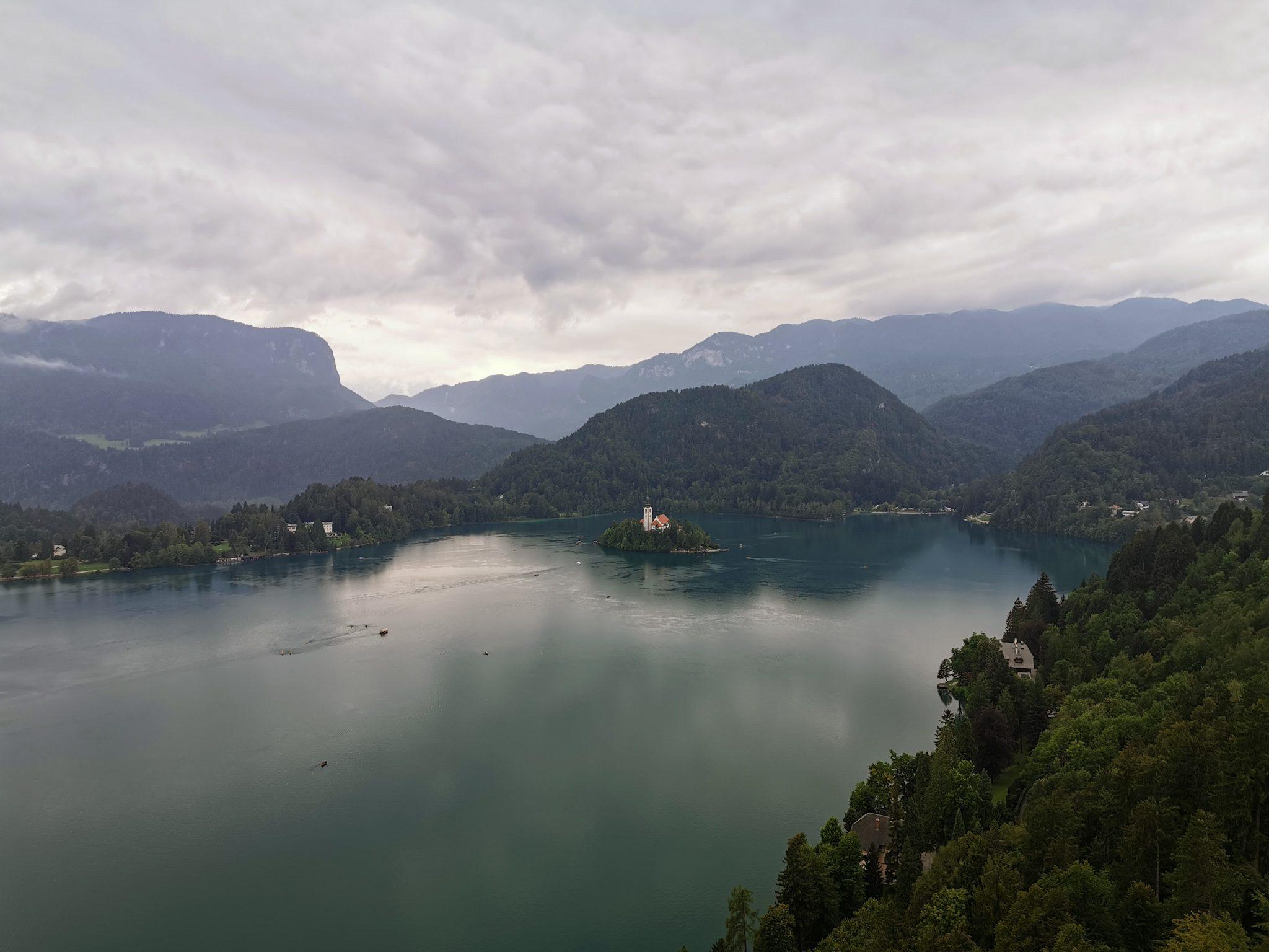 widok z Zamku bled Słowenia