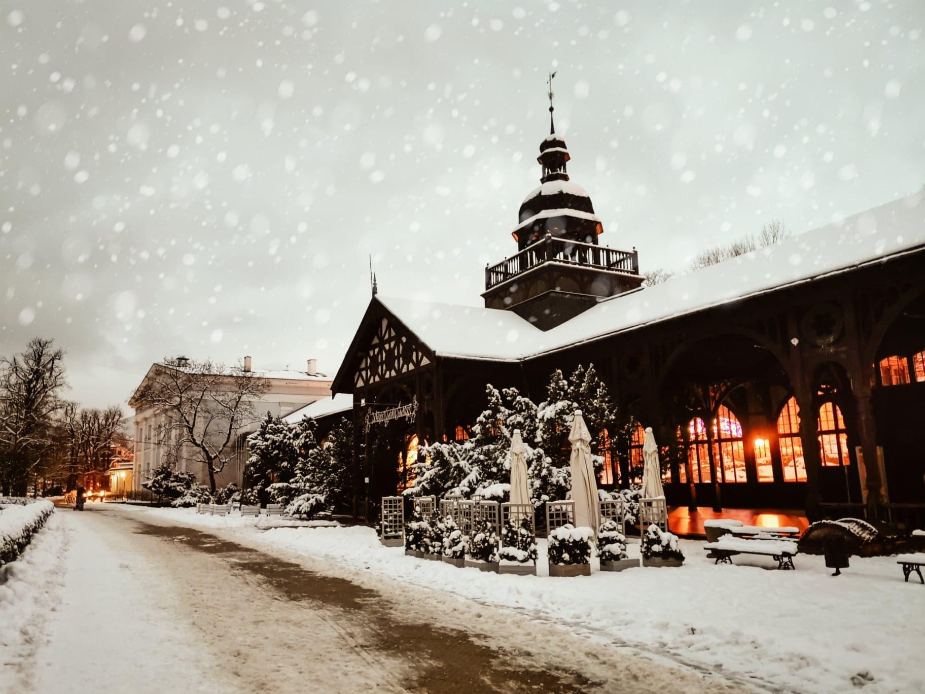 Szczawno - zdrój zima